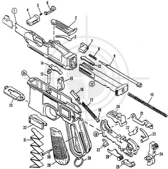 пистолета Mauser C-96
